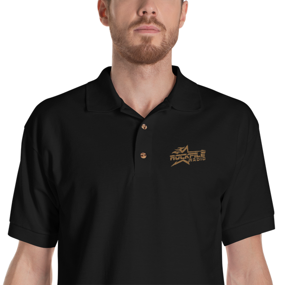 Rockfile Radio Logo Embroidered Polo Shirt