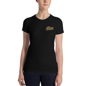 Rockfile Radio Pocket Logo Women's Slim Fit T-Shirt