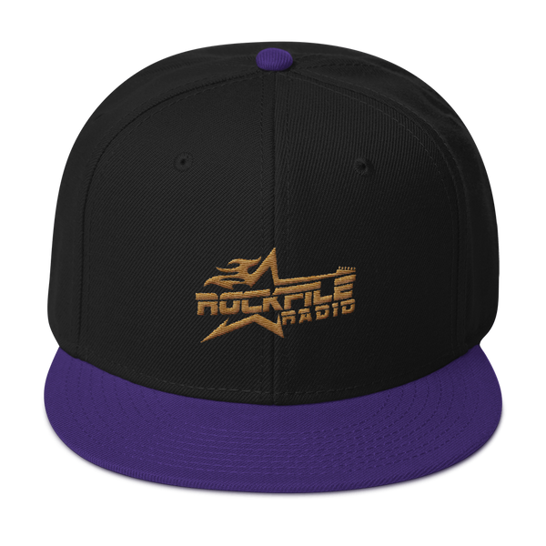 Rockfile Radio Logo Embroidered Snapback Hat