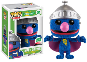 POP! Animation Sesame Street SUPER GROVER (flocked exclusive)