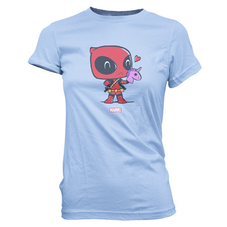 POP! SuperCute Tees Marvel Deadpool w/ Hand Puppet T-Shirt (PRE-ORDER)