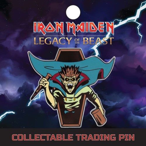 IRON MAIDEN Vampire Hunter Eddie Lapel Pin