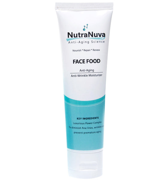 FACE FOOD Anti-Aging Anti-Wrinkle Moisturizer for Smoother, Softer, Younger-Looking Skin, VEGAN Formula - 2 oz.