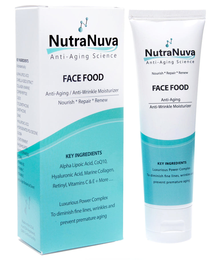 FACE FOOD Anti-Aging Anti-Wrinkle Moisturizer - For Smoother Younger-Looking Skin, VEGAN Formula - 2 oz - FREE SHIPPING on Orders of $40