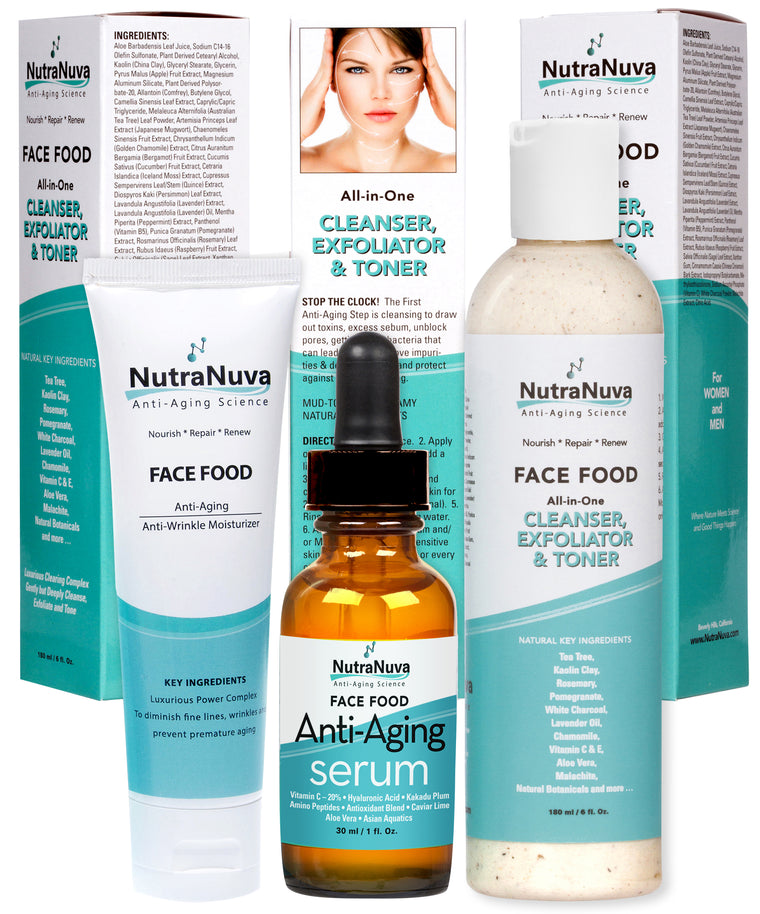 Stop-the-Clock! Kit contains 3 Items to Help Prevent Premature Aging and Stop the Clock with 100% VEGAN Formulas - FREE SHIPPING