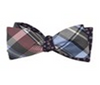 Plaid Free Fall Bow Tie
