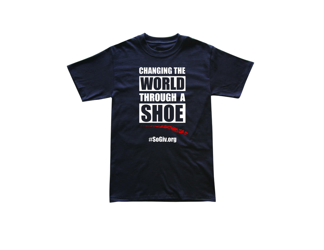 CHANGING WORLD THROUGH A SHOE TEE