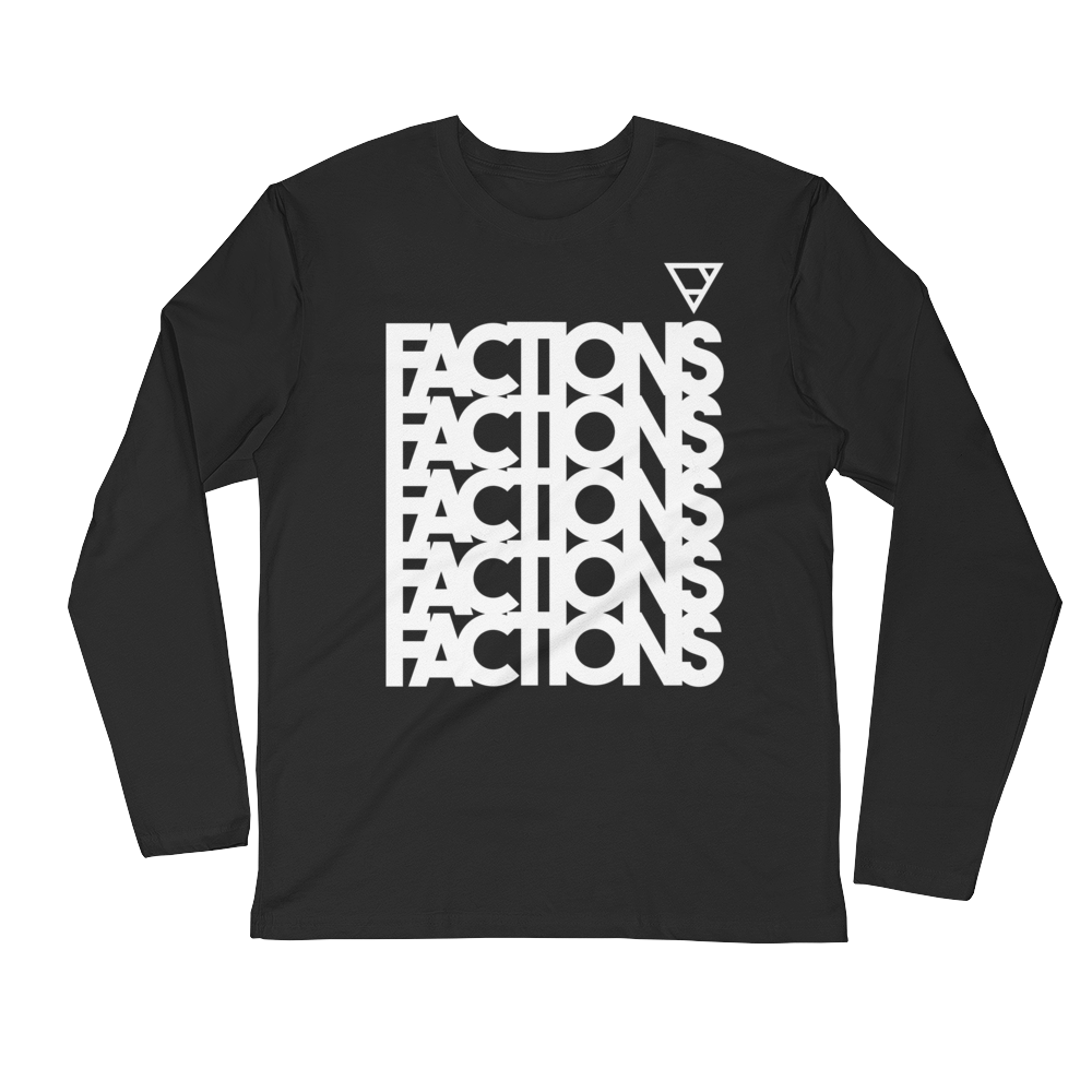 factions LONG SLEEVE FITTED CREW