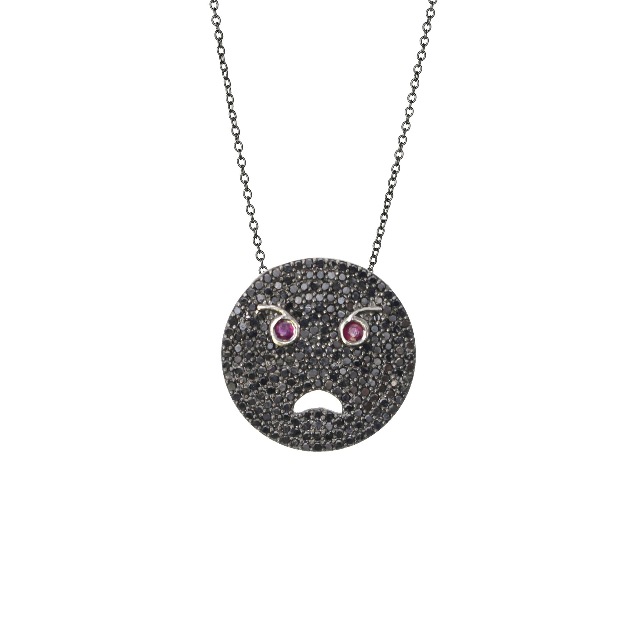 t white meira necklace jewelry gold black pendant diamond gallery lyst moon product in