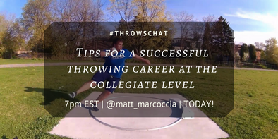 #ThrowsChat Preview 2: Success Collegiate Throwing Featuring Matt Marcoccia