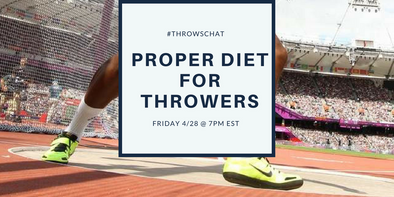 #ThrowsChat Preview 3: Proper Diet for Throwers