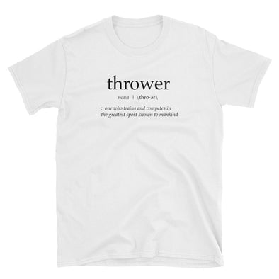 Thrower Definition Tee - Throws Chat -