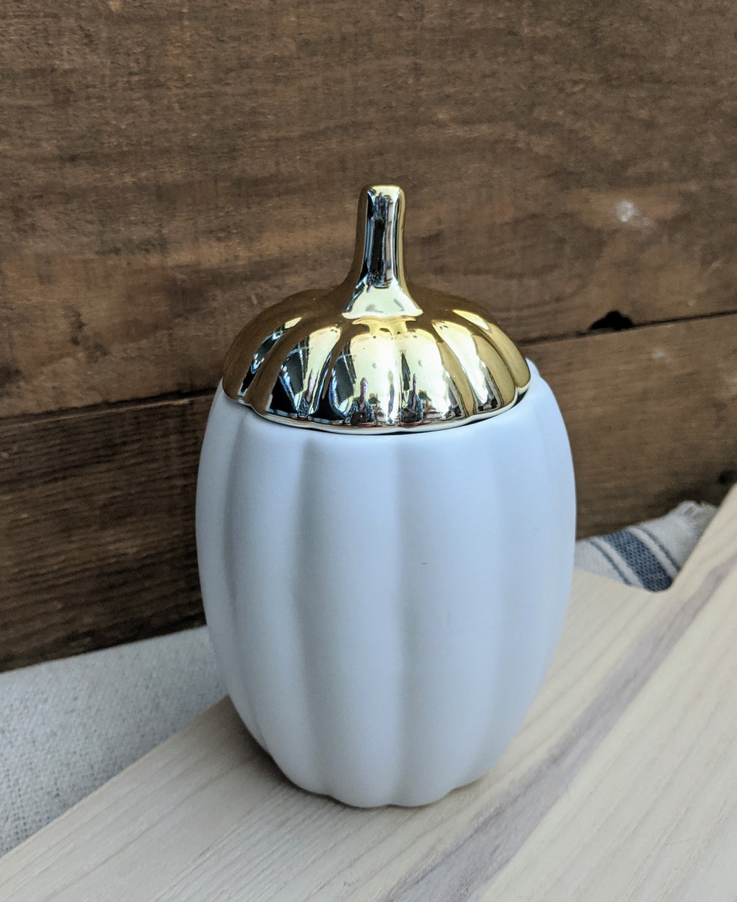 Tall Ceramic Pumpkin Candle