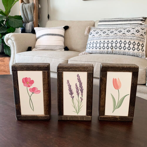 Floral Stems Painted Signs