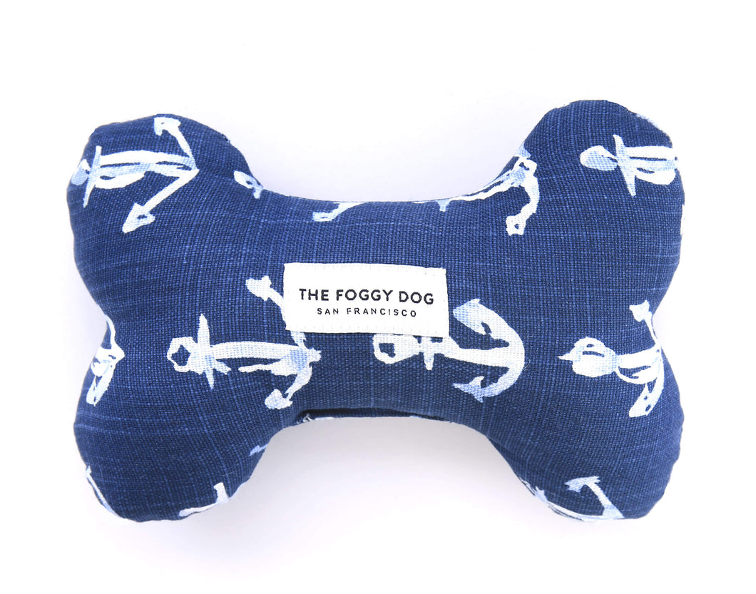 Down By The Sea Dog Bone Squeaky Toy