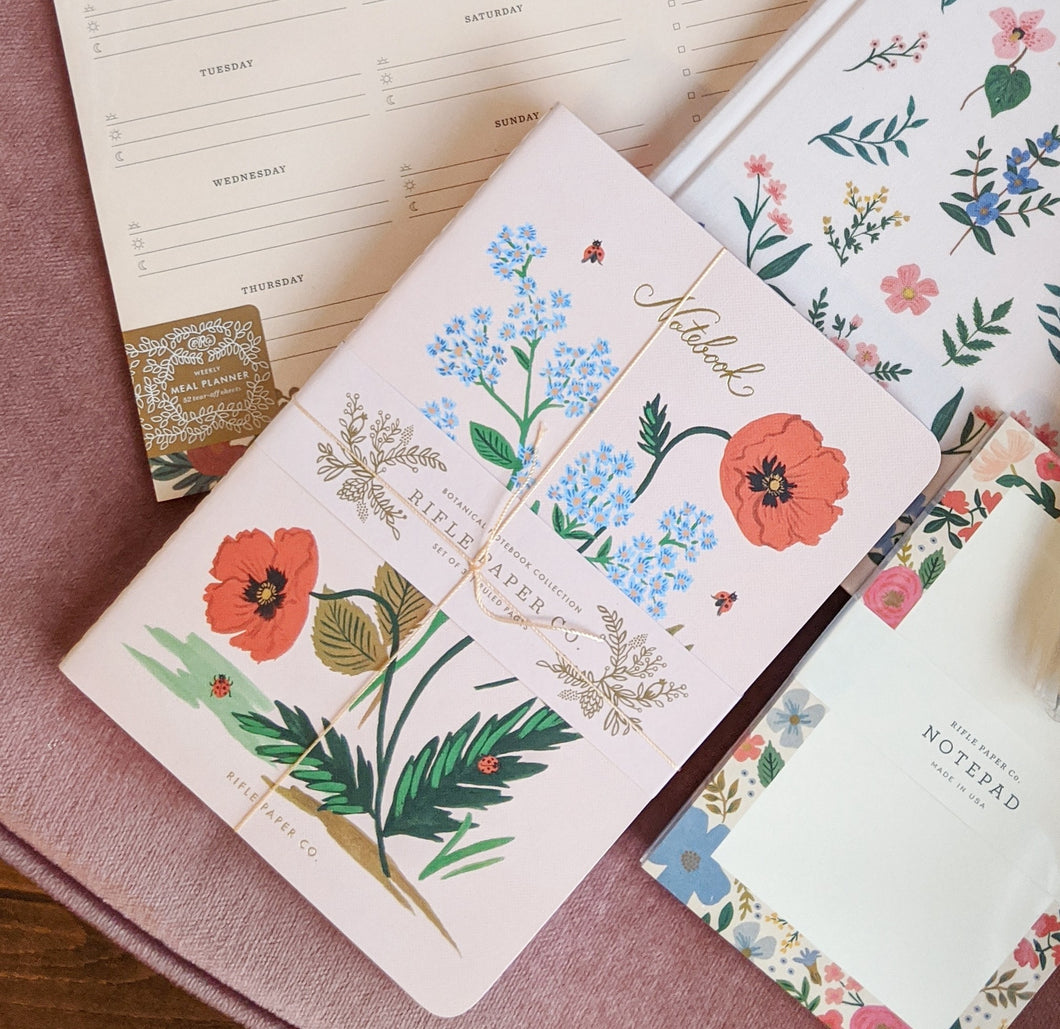 Set of 3 Wild Rose Notebooks