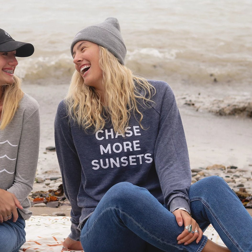 Chase More Sunsets Crew Neck Sweatshirt