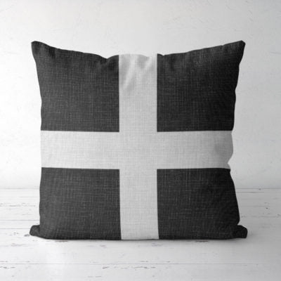 Up North Market Black Cross Pillow