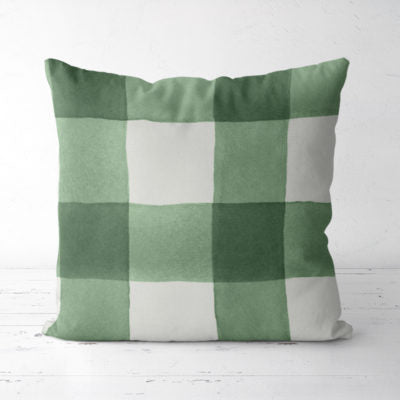 Up North Market Evergreen Plaid Pillow