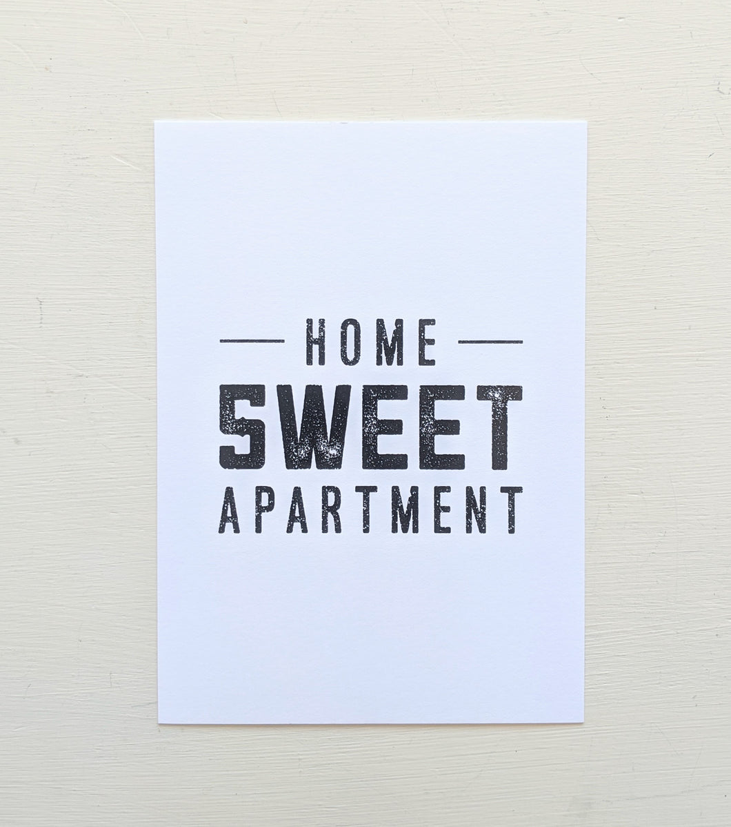 Home Sweet Apartment 5x7 Print
