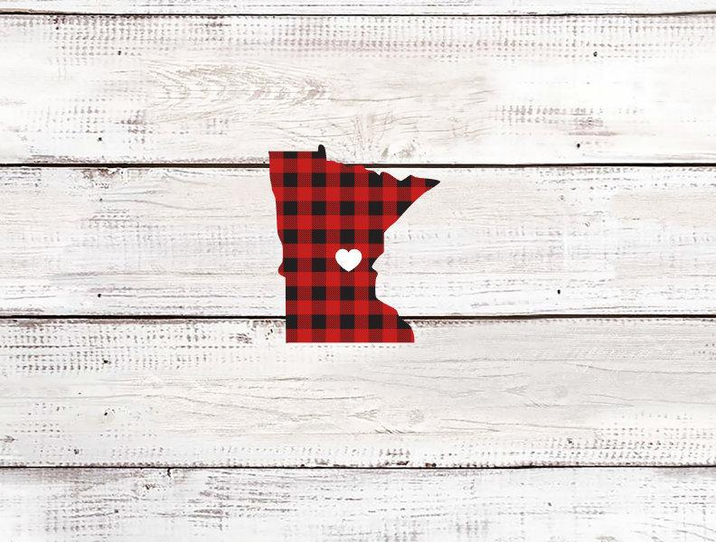 Minnesota Buffalo Plaid Sticker