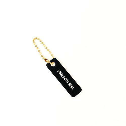 Black & White Home Sweet Home Keychain