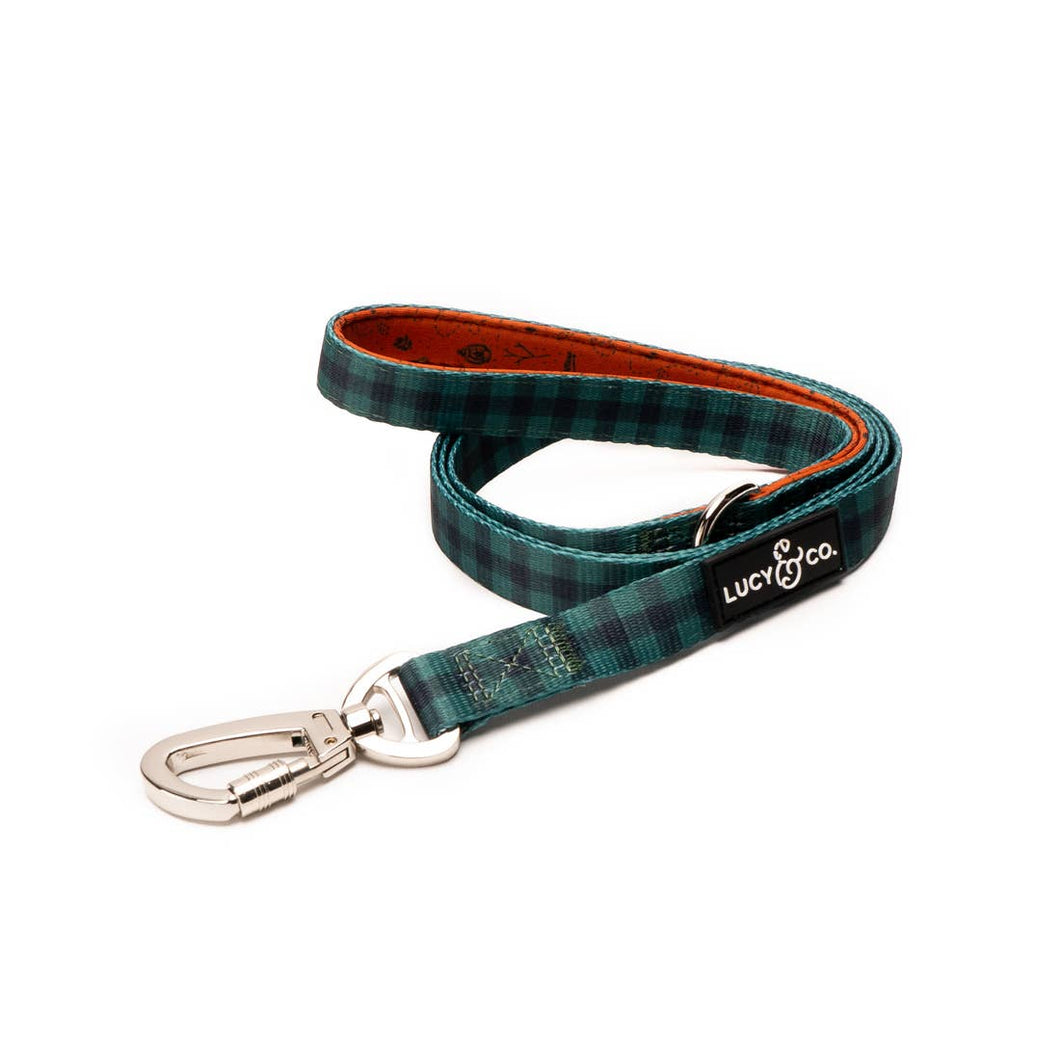 Green Plaid Leash