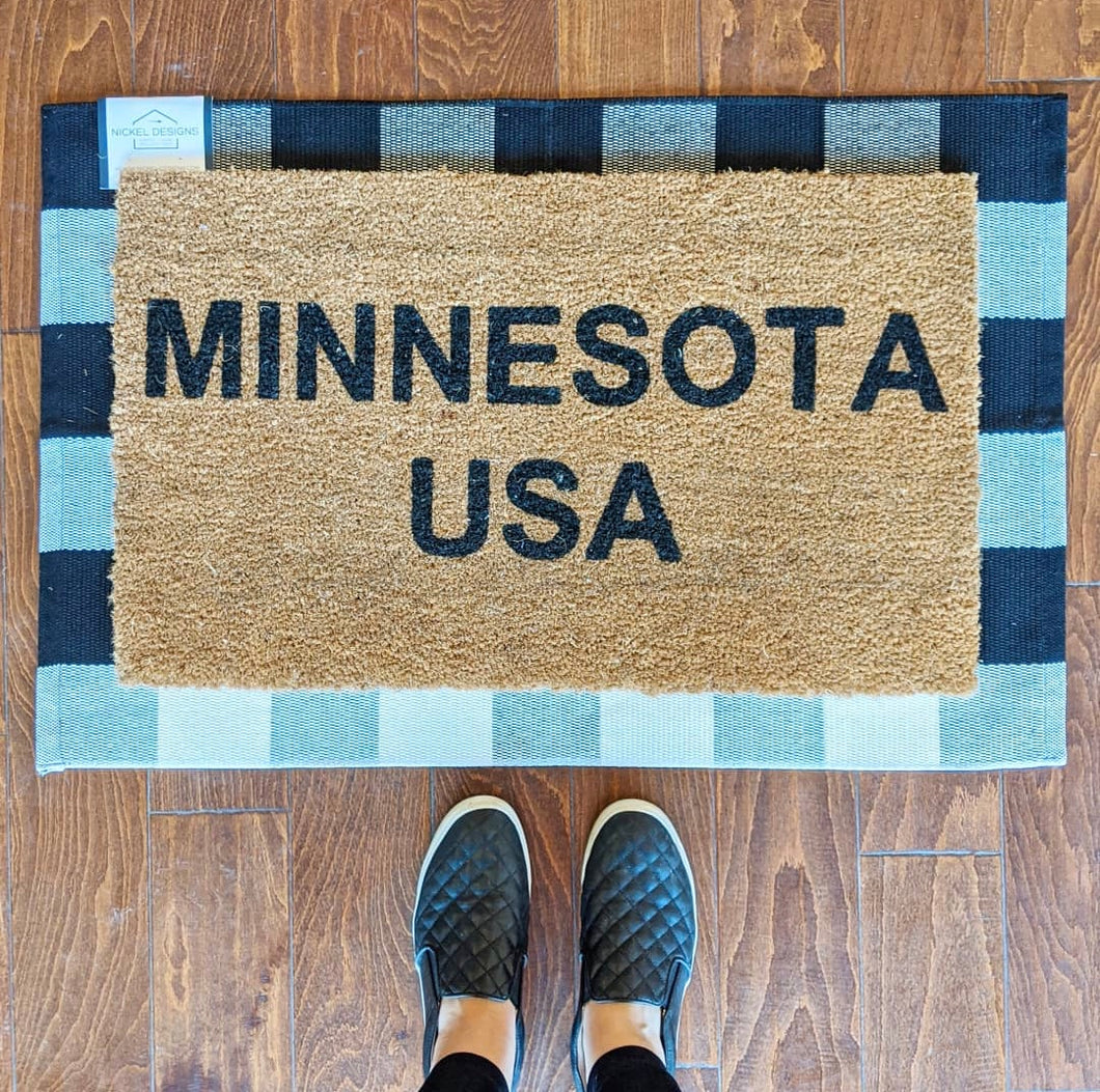 Woven Buffalo Plaid Entry Rug