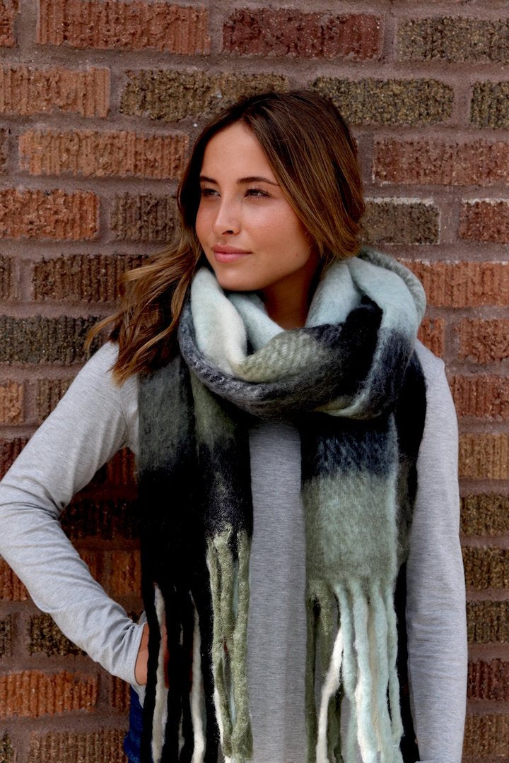 Long Soft Olive Scarf
