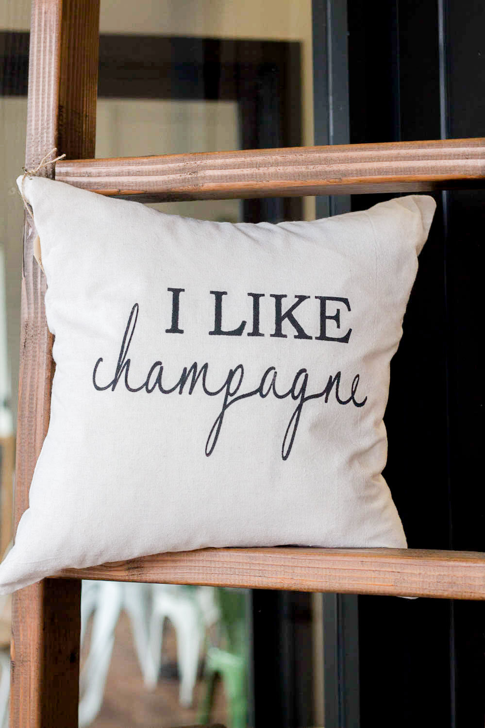 I Like Champagne Pillow