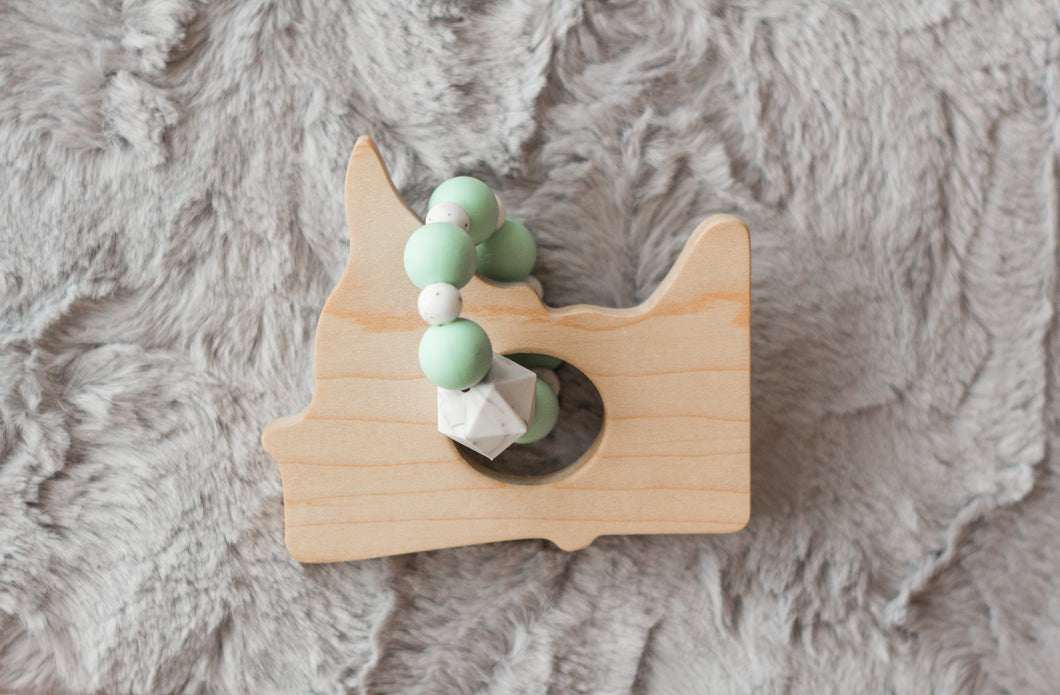 Wood + Silicone Minnesota Teether