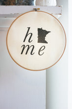 Home State Faux Embroidery Hoop