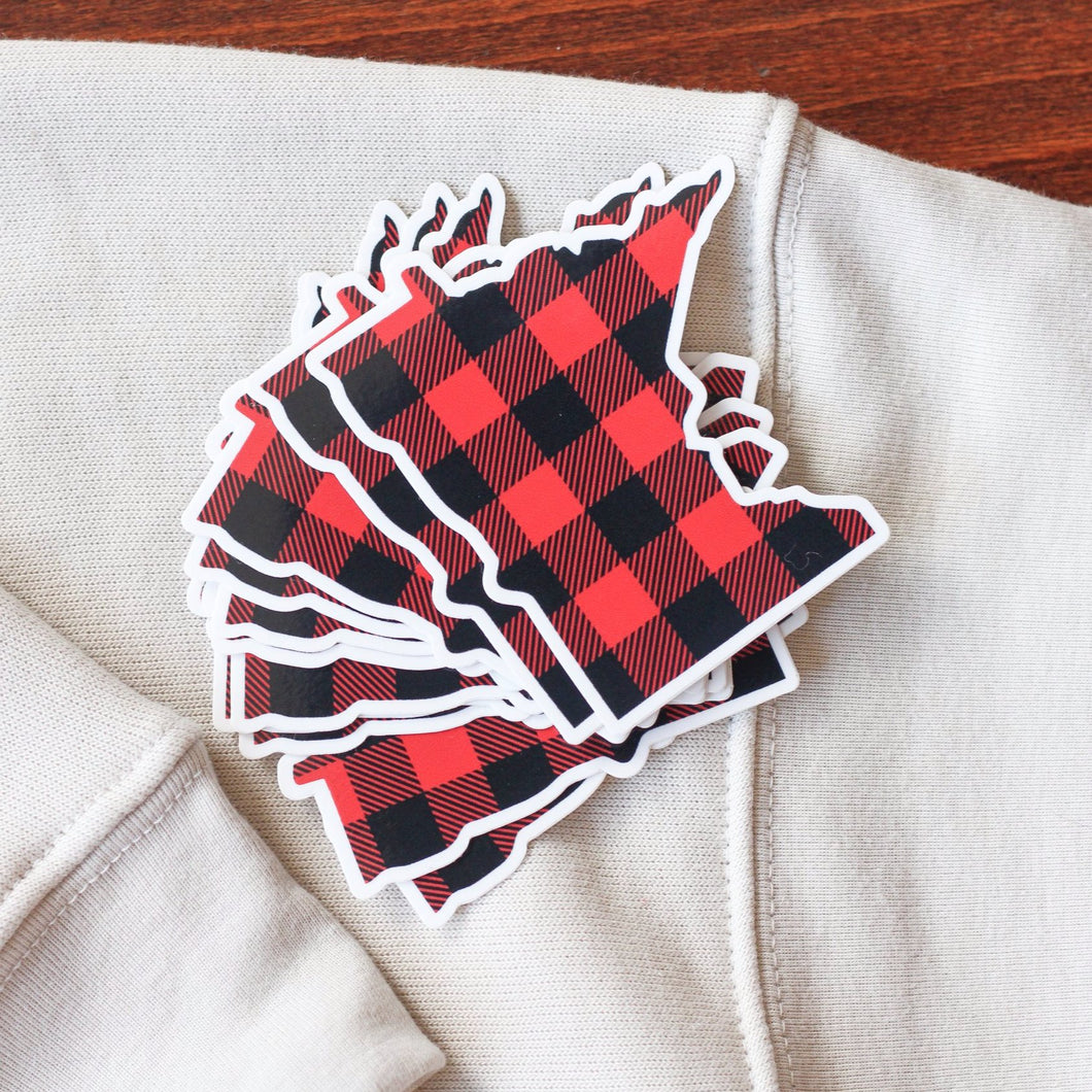 MN Buffalo Plaid Vinyl Sticker