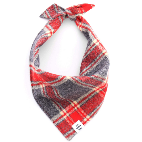 Hudson Plaid Flannel Dog Bandana