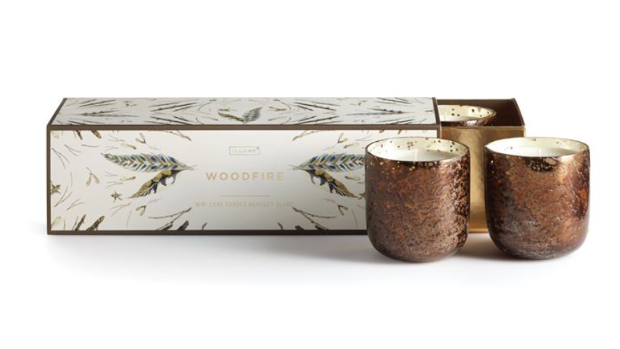 Woodfire Mini Luxe 3PK Vot Candle