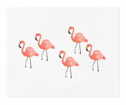 Flamingo Art Print 8x10