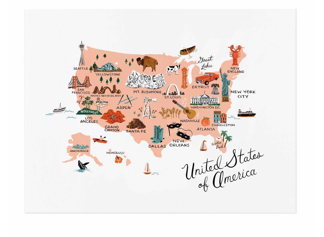 United States of America Art Print (8x10)