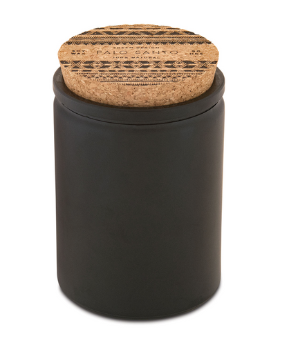 Palo Santo 12 ounce candle black