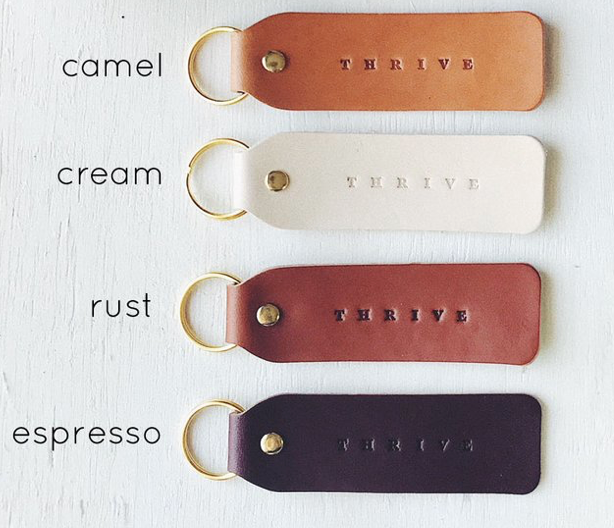 Favorite Words Leather Keychain
