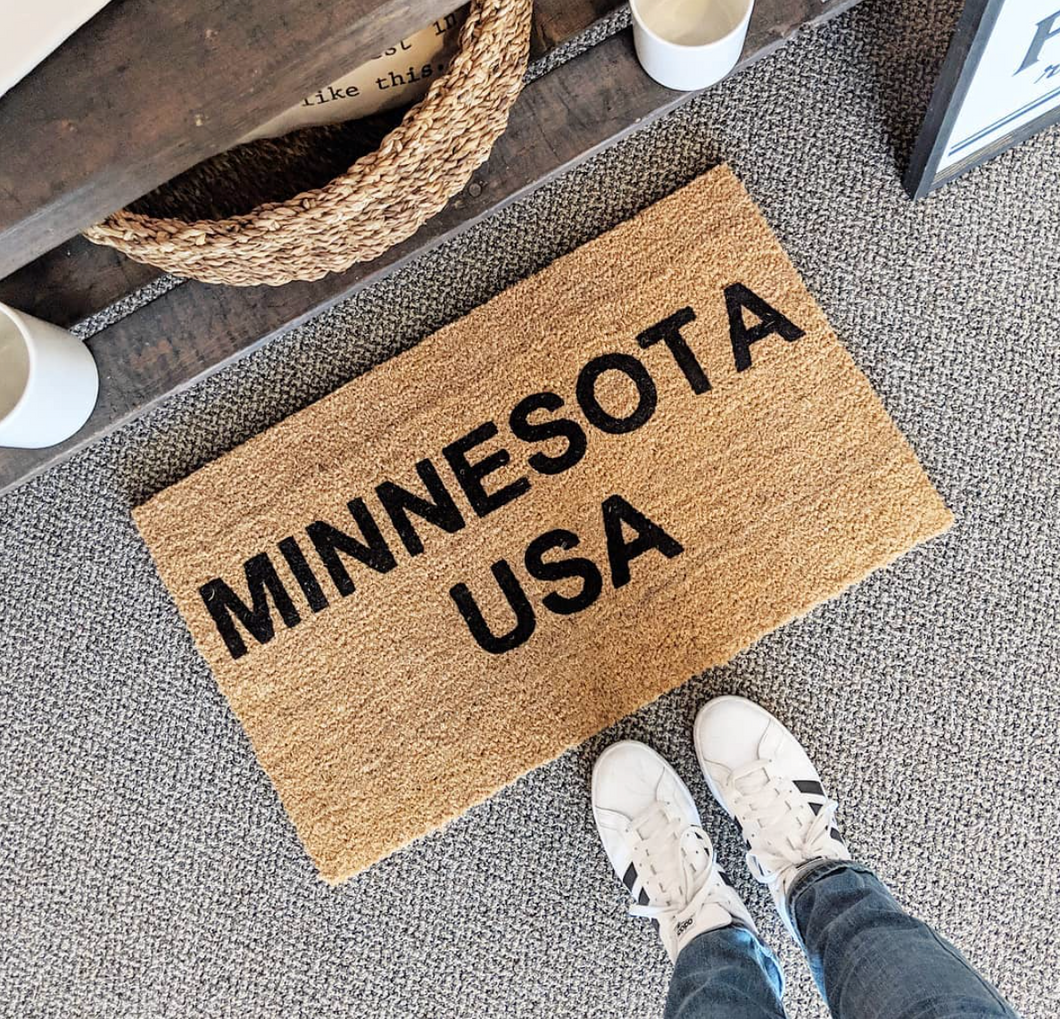 Minnesota, USA doormat