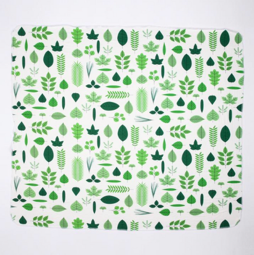 Leaves Swaddle Blanket