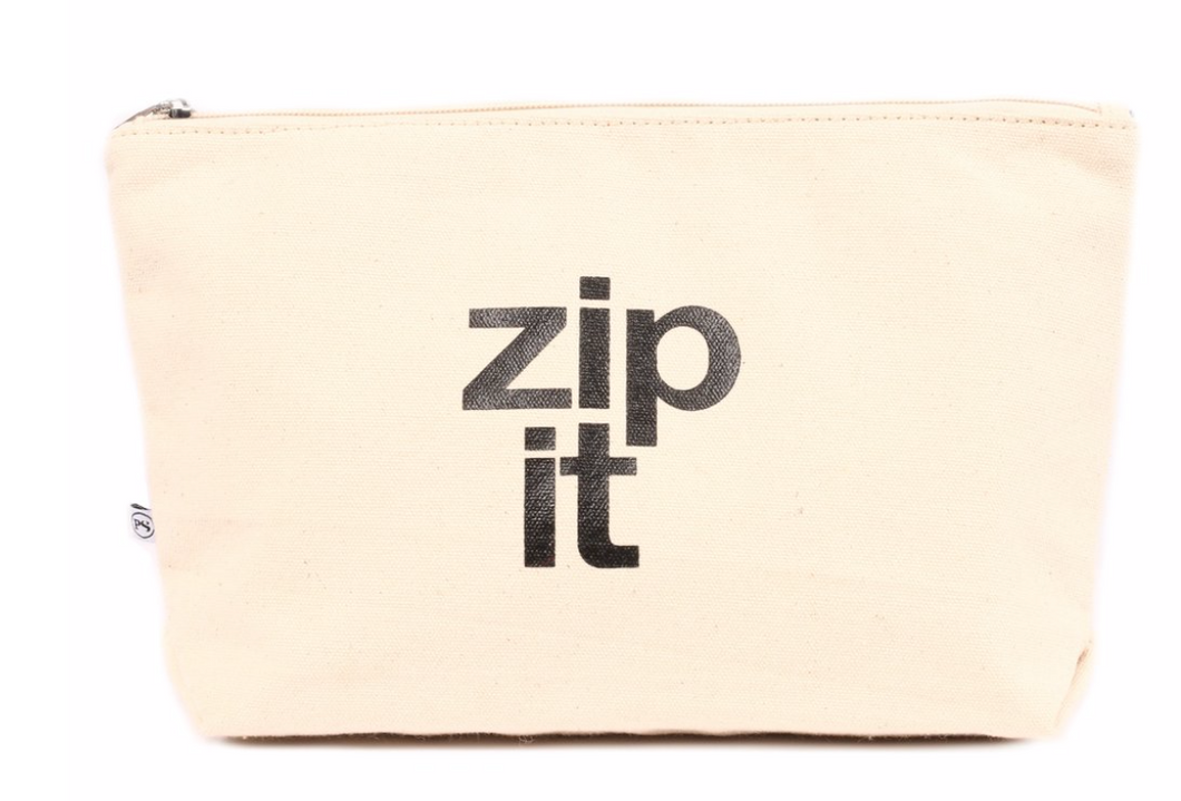 Canvas Zip Pouch (Zip It)