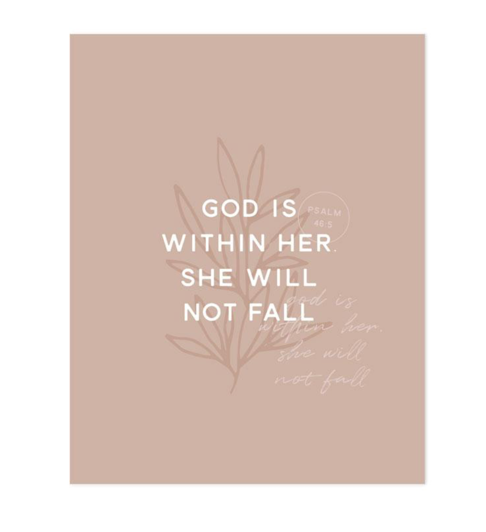 God is Within Her Art Print
