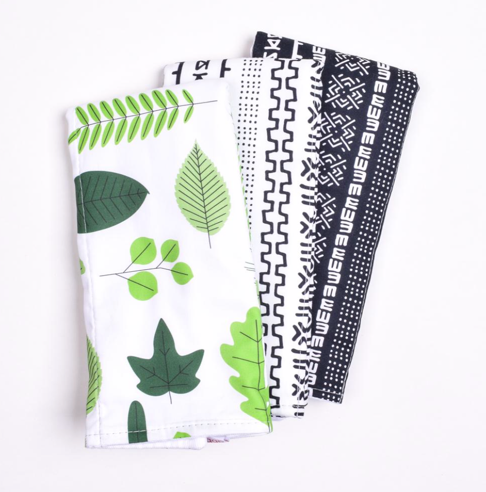 Leaves Burp Cloth Set