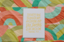Proverbs 31:25 Print - Rose Gold Foil