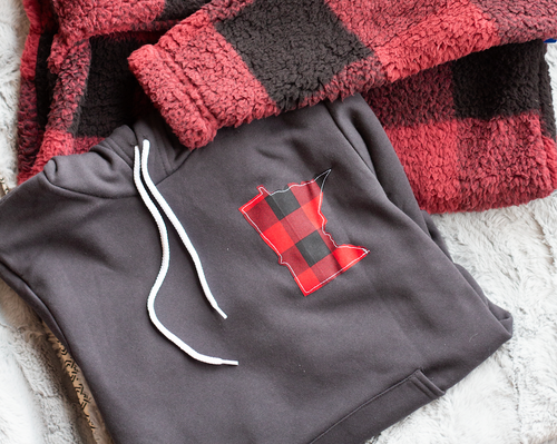 Minnesota Hoodie in Buffalo Plaid