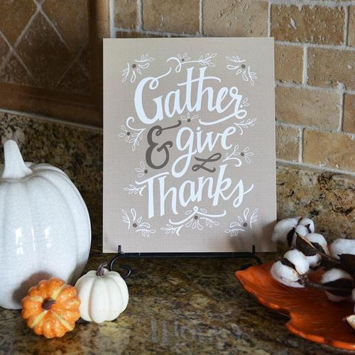 Gather & Give Thanks Fall Art Print