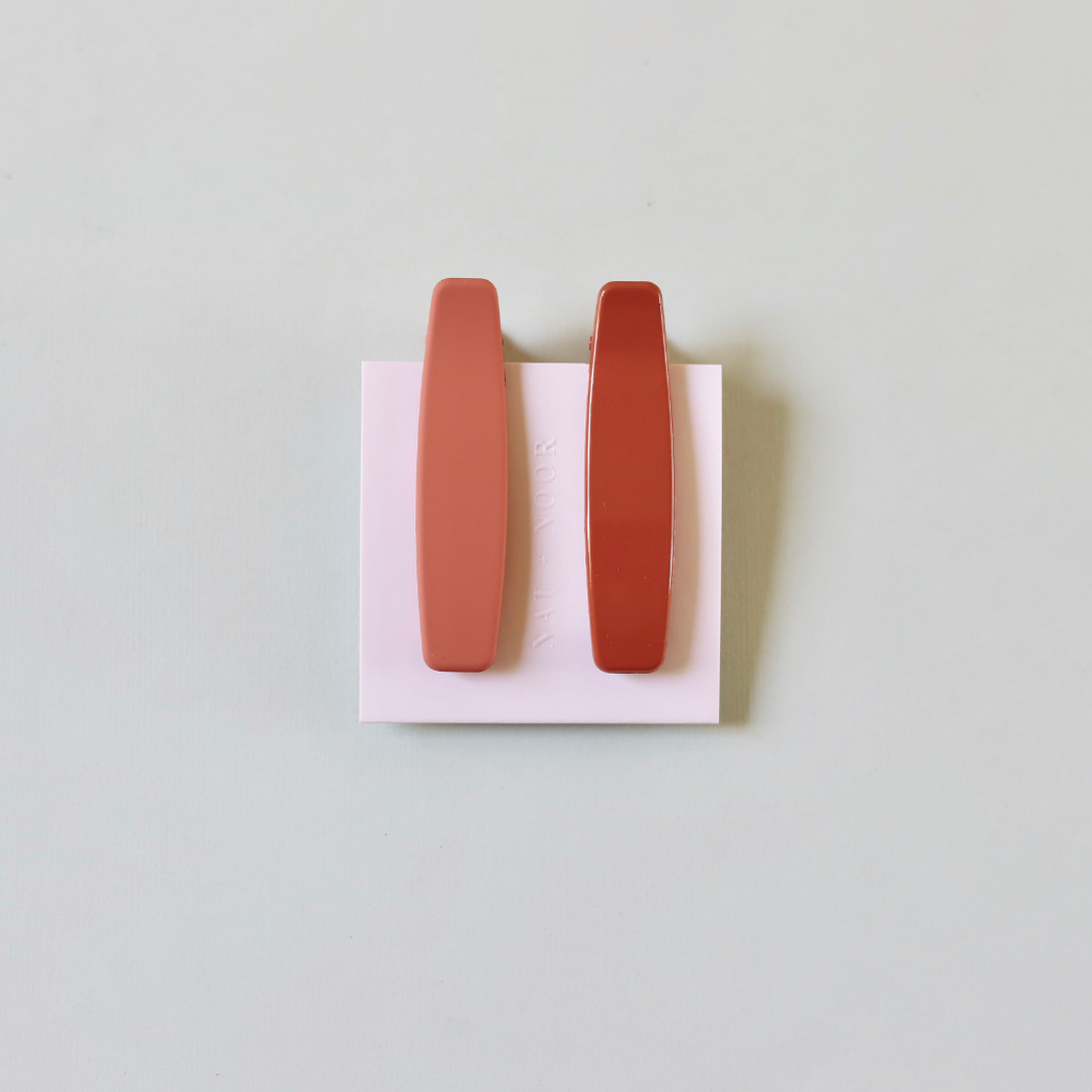 Lani Clips in Orange + Peach