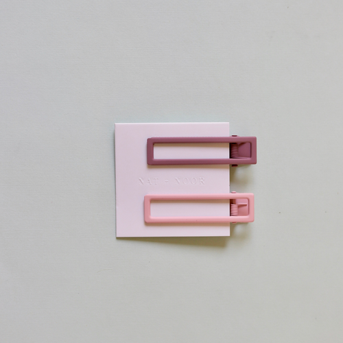 LuLu Clips in Mauve + Pink