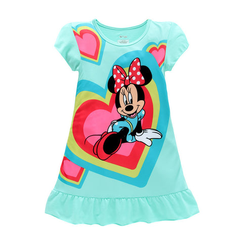 Minnie Mouse  Elsa Anna Sofia kids pajamas nightgowns